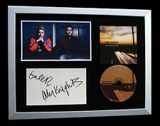 TURIN BRAKES+SIGNED+FRAMED+OPTIMIST+AROUND+LOST=100% GENUINE+EXPRESS GLOBAL SHIP