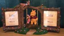 Disney Store Winnie The Pooh On Swing Double Photo frame Figurine