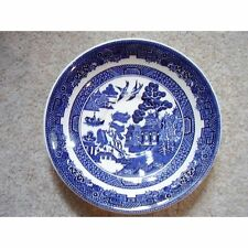 Johnson Bros,Willow, England porcelain blue and white saucer,02