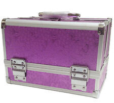 Purple Rose Beauty Jewellery Storage Bag Cosmetic Box Make Up Nail Vanity Case