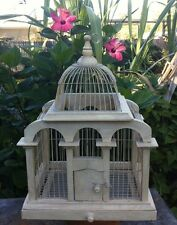 Decorative Bird Cage Wood and Wire