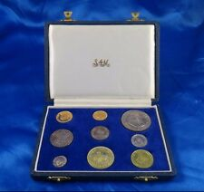 1961 Gold 1&2 Rand South Africa Gold Silver 9 Coins Proof Set