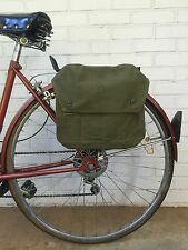 Finnish Military Surplus Shoulder Bag Vintage Bicycle Pannier 60's-80's Green