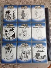 Star Wars topps clone wars sketch cards 75 super rare awaken the force afa?