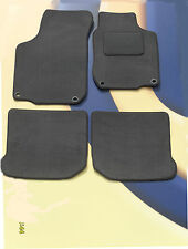 VW GOLF MK6 2008 ON GREY CARPET CAR MATS WITH 4 ROUND LOCATOR CLIPS