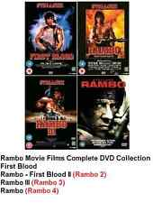 Rambo 1-4 DVD Complete Collection First Blood 2 3 4 All Movies Films New UK R2