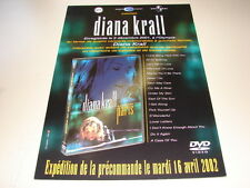 DIANA KRALL LIVE IN PARIS!!!!!!!!!RARE FRENCH PRESS/KIT