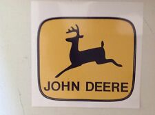 "Stk#2 John Deere Sticker, Bumper, Window Decal, 4-1/8x3-1/2"", Peel & Stick, Nice"