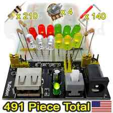 BreadBoard Starter Kit, Power Supply Module, Resistors, Wires, more...