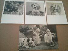 #ORIGINAL 1800's VICTORIAN Lot Of 4 Trade Cards DOG PORTRAITS Ad 5.5 x 3.5""