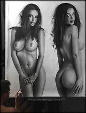 Emily Ratajkowski - portrait ritratto grafite e carboncino cm. 105 x 130