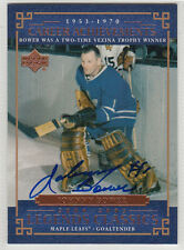 Johnny Bower Leafs Hall of Fame SIGNED CARD AUTOGRAPHED
