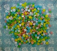 LOOSE CZECH PRESSED GLASS BEADS-FLOWERS-MIXED PASTEL COLORS-9MM-50 BEADS-GIFT