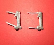 """Lot de 2 chiffres  """"1"""" pour tenue ou épaulettes d' uniforme, aluminium"""