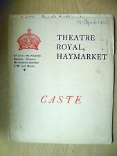 1902 Theatre Royal Programme- Cyril Maude in CASTE by T W Robertson