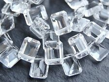 """HAND FACETED CRYSTAL RECTANGLES, 6x8mm, 8"""", 40 beads"""