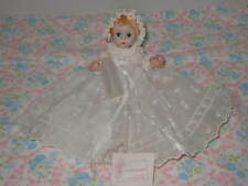 """1950's Madame Alexander 8"""" Little Genius Doll w/ Christening Outfit & Access."""