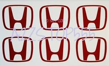 6pc JDM HONDA LOGO DECAL STICKER FOR WHEEL RIM CENTER CAP OEM SI Type R DC2 CTR