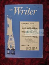 THE WRITER April 1975 Merrill Joan Gerber Jane Yolen Sylvia Rothchild
