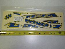 NOS VINTAGE  DYNO VFR BLUE STICKER SET OLD SKOOL BMX FREESTYLE RACING