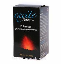 Power Excite + 45 tablets strong potency erection pills libido enhancer sex male