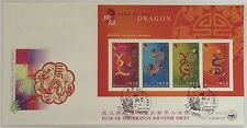 "2000 Hong Kong stamp set and sheetlet ""Year of Dragon ""CPA FDC"