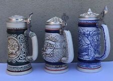 Vtg 70'S AVON CERAMARTE BRAZIL STEIN LOT OF 3 BEER MUGS MUG STEIN GERMAN RARE