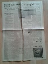 VINTAGE TELEGRAPH NEWSPAPER WW2. Sept 13th 1943. Nazis claim capture of Mussolin