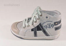 Babybotte Archipel Boys White Leather Lace Trainers UK 7.5 EU 25 US 8 RRP £55.00