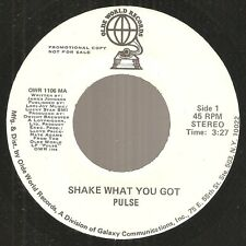 "PULSE ""Shake What You Got"" modern soul boogie funk m/s dj 45 on Olde World 1978"