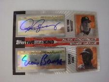 2004 Ernie Banks Alex Rodriguez Topps Finest  Autographs #20K-RB #03/13 Auto