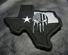 PUNISHER SKULL TEXAS STATE FLAG MAP TACTICAL MORALE SWAT HOOK PATCH