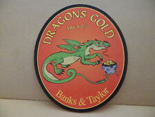 Banks & Taylor Dragons Gold Ale Beer Pump Clip Pub Bar Collectible 8 RARE