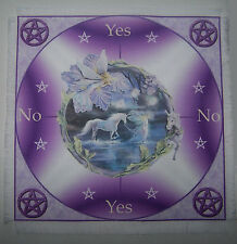 Magical unicorn & Fairy Scrying Mat for use with a pendulum Wicca divination