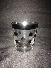 Vintage Dorothy Thorpe Silver Polka Dot Bar Glasses, small