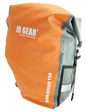 JR GEAR DRY SET OF TWO BIKE REAR RACK PANNIERS - 20L EACH, 100% WATERPROOF