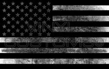 "5"" American Flag Decal Sticker America USA Stars and Stripes - White"