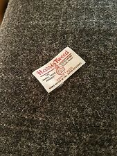 Harris tweed wool grey with grey white overcheck fabric 150 width per metre