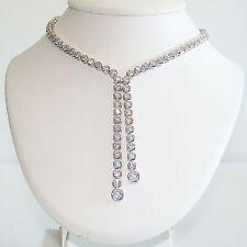 Halskette Silber 925 Zirkonias Collier Sterlingsilber