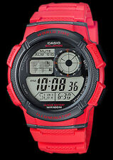 Casio RED aviator watch traveler cronograph g shock montre world time OROLOGIO