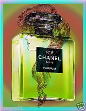 Chanel Perfume Poster/Print/Chartreuse/ Victorian Vogue Hair Style/17x22 inch