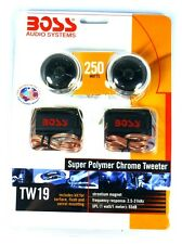 TW19 BOSS AUDIO Micro-Dome Super Polymer Chrome 1-Inch Tweeters, Pair, TW-19