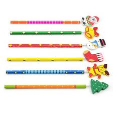 New Arrival Back to School 5Pcs/Lot Christmas Theme Kids Cartoon Wooden Pencils
