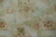Crown Wallpaper, Rolatile, Green Flower Design, Floral Effect Texture BNIB 90280