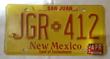 San Juan - New Mexico - Targa Auto Originale - License Plate - Rara - Usata