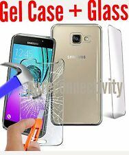 Best Clear TPU Gel Case Cover for Samsung Galaxy A5 (7) 2017 + Glass protecter