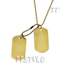 TTstyle Plain Vintage Copper Double Dog Tag Engravable NEW Arrival