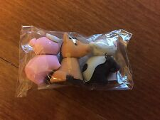 Pack of 3 Farm Animal Themed Erasers / Rubbers - New