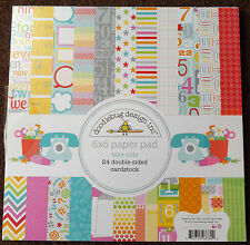 Doodlebug Design Take Note Double Sided Cardstock Sheets Crafts Paper Pad