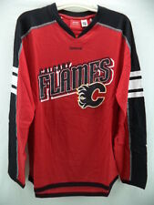 Calgary Flames Reebok NHL Red Long Sleeve Team Jersey T-Shirt S